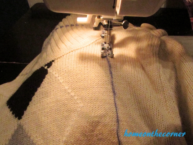 Sweater Stocking Tutorial Seam
