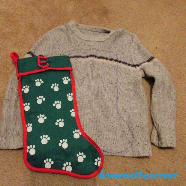 Sweater Stocking Tutorial Traceing