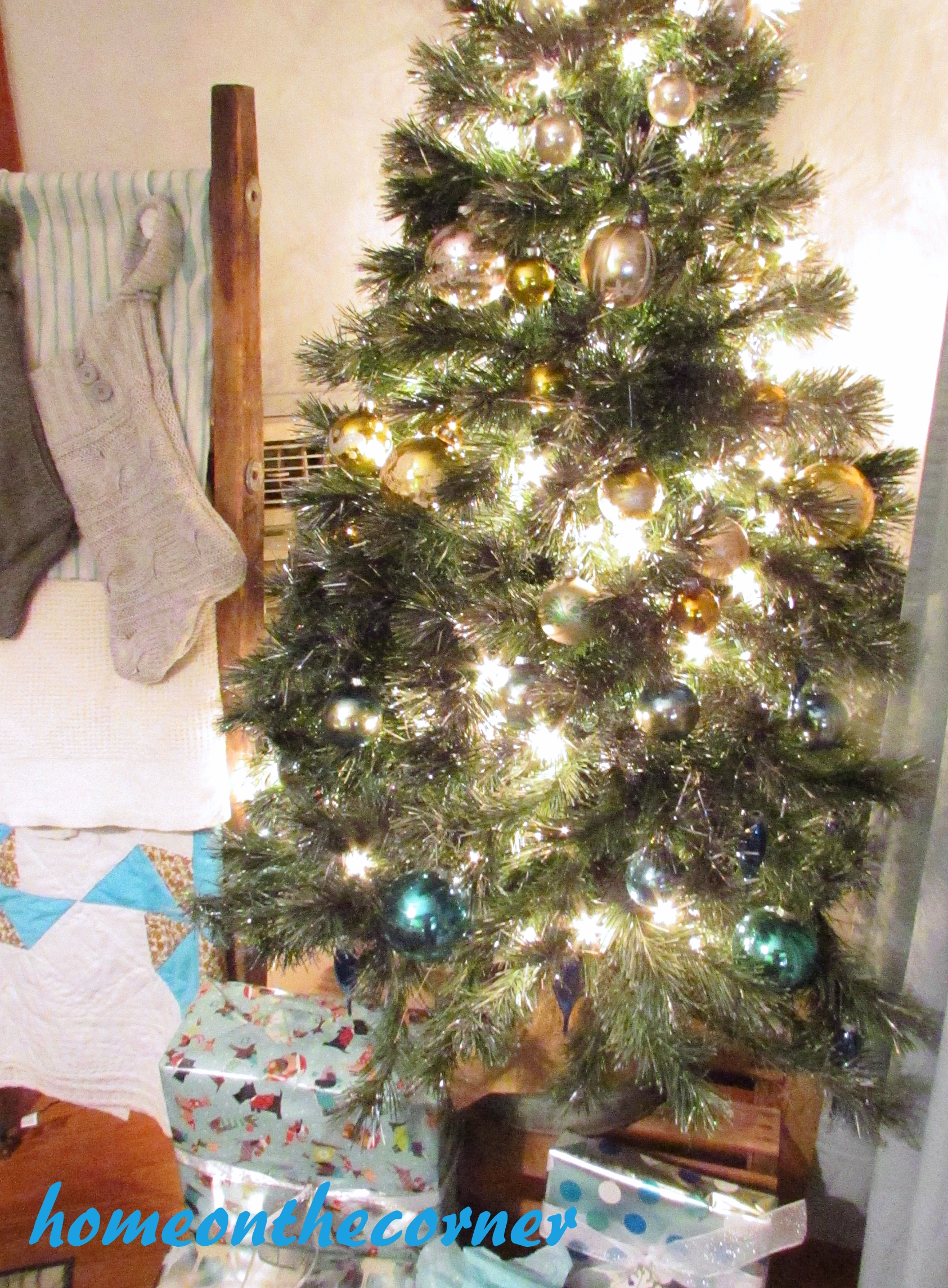 sweater stockings and tree