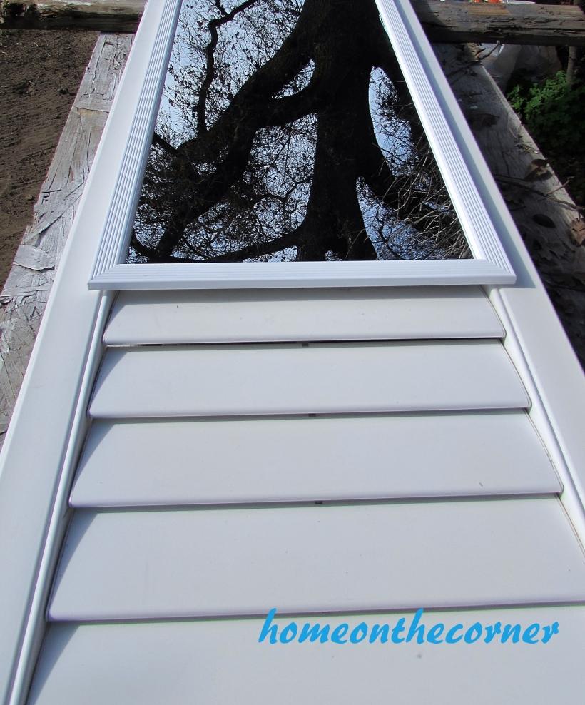 door to mirror shutter painted