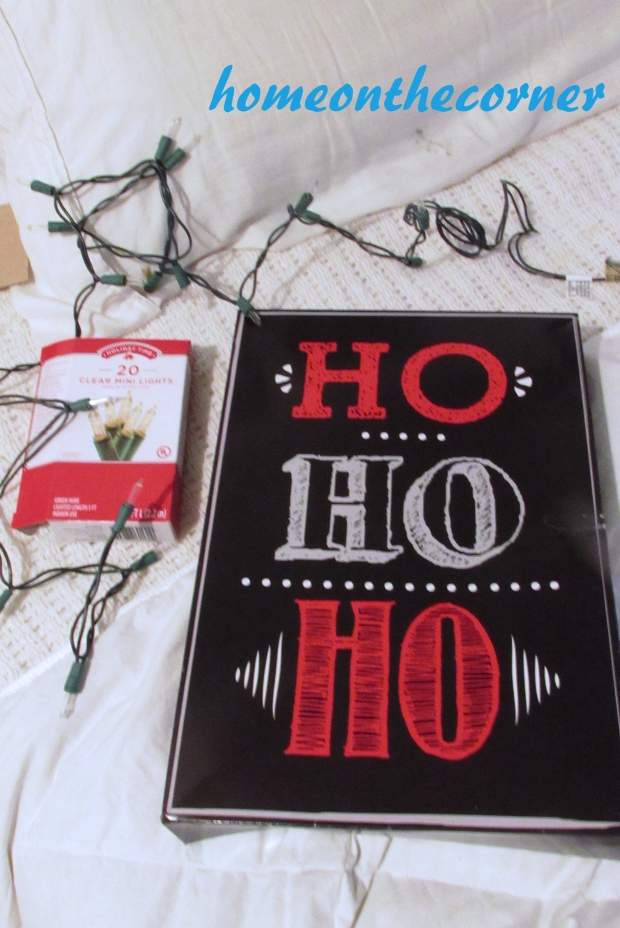 Ho Ho Ho lighted box supplies