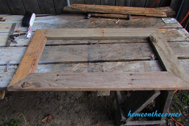 pallet wood mirror frame