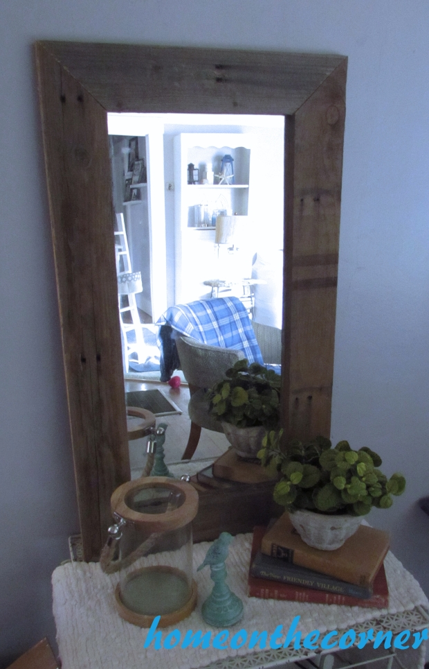 pallet wood mirror styled