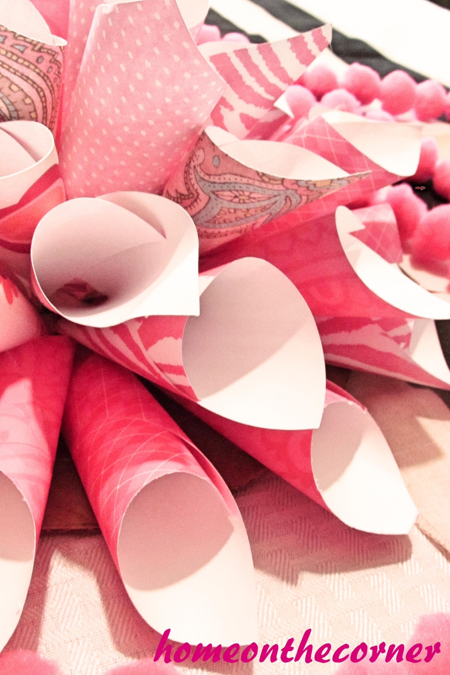 Pink Paper Flower Close Up