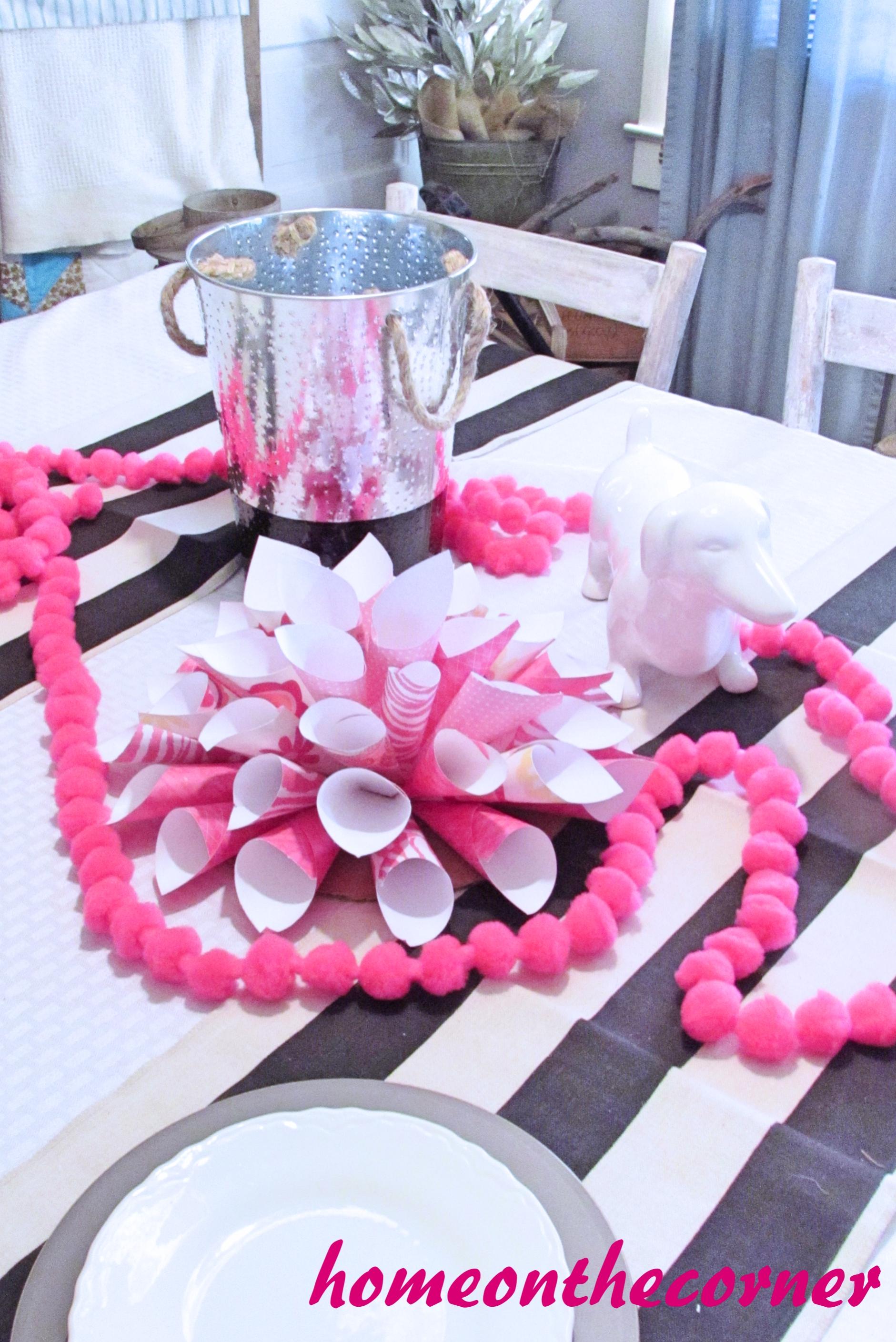 Pink Paper Wall Flower Final 1