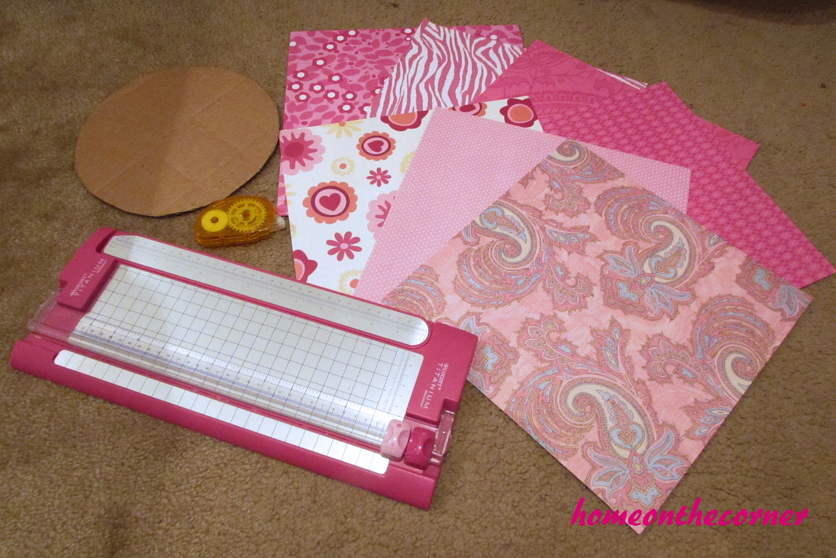 Pink Paper Wall Flower Tutorial
