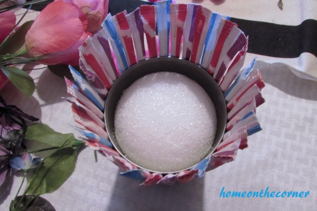 pixie stix flower holder styrofoam ball