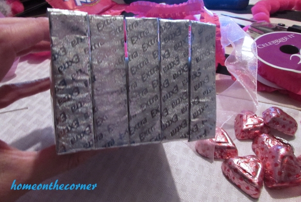 silver gum covered candy box glued