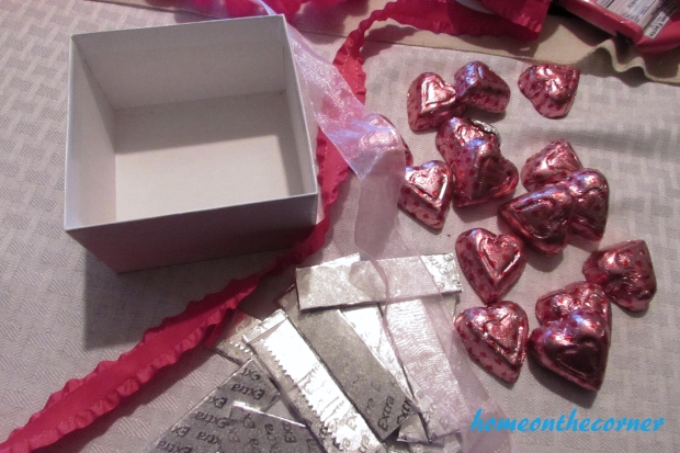 silver gum covered candy box