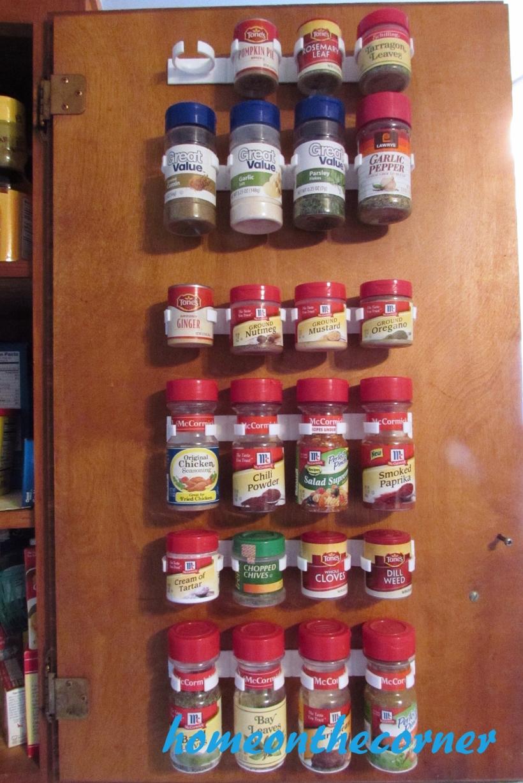 spice organizer full of jars