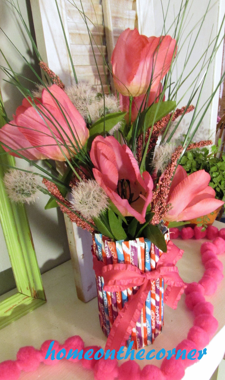 valentine mantel flower vase 2016