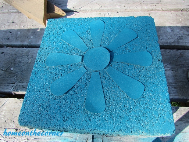 concrete painted planter lagoon spray paint