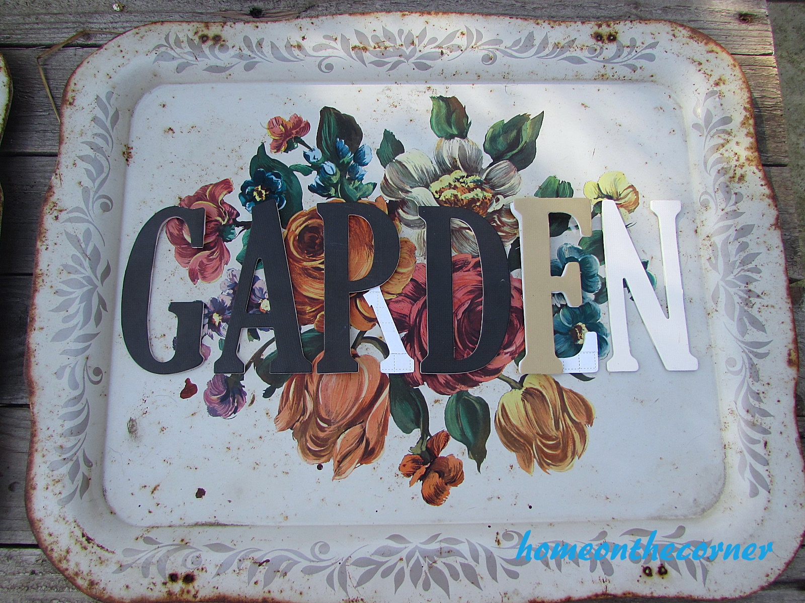 floral metal trays garden layout