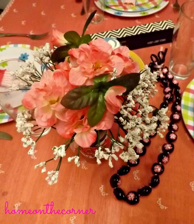 Flowers and Necklace