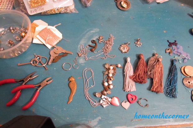 tassel key chain pieces and parts