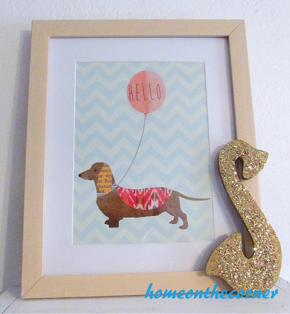 corner news dog and balloon
