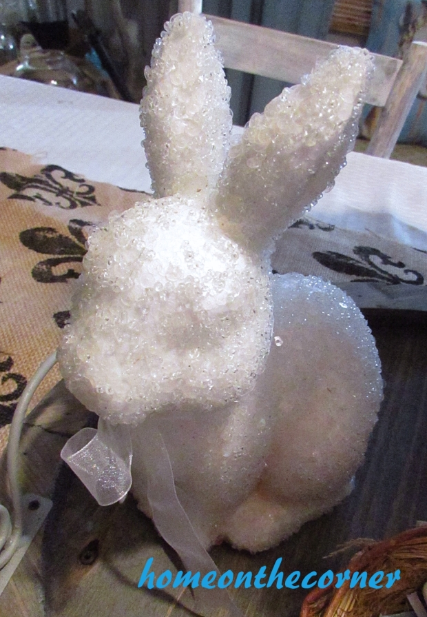 spring centerpiece bunny