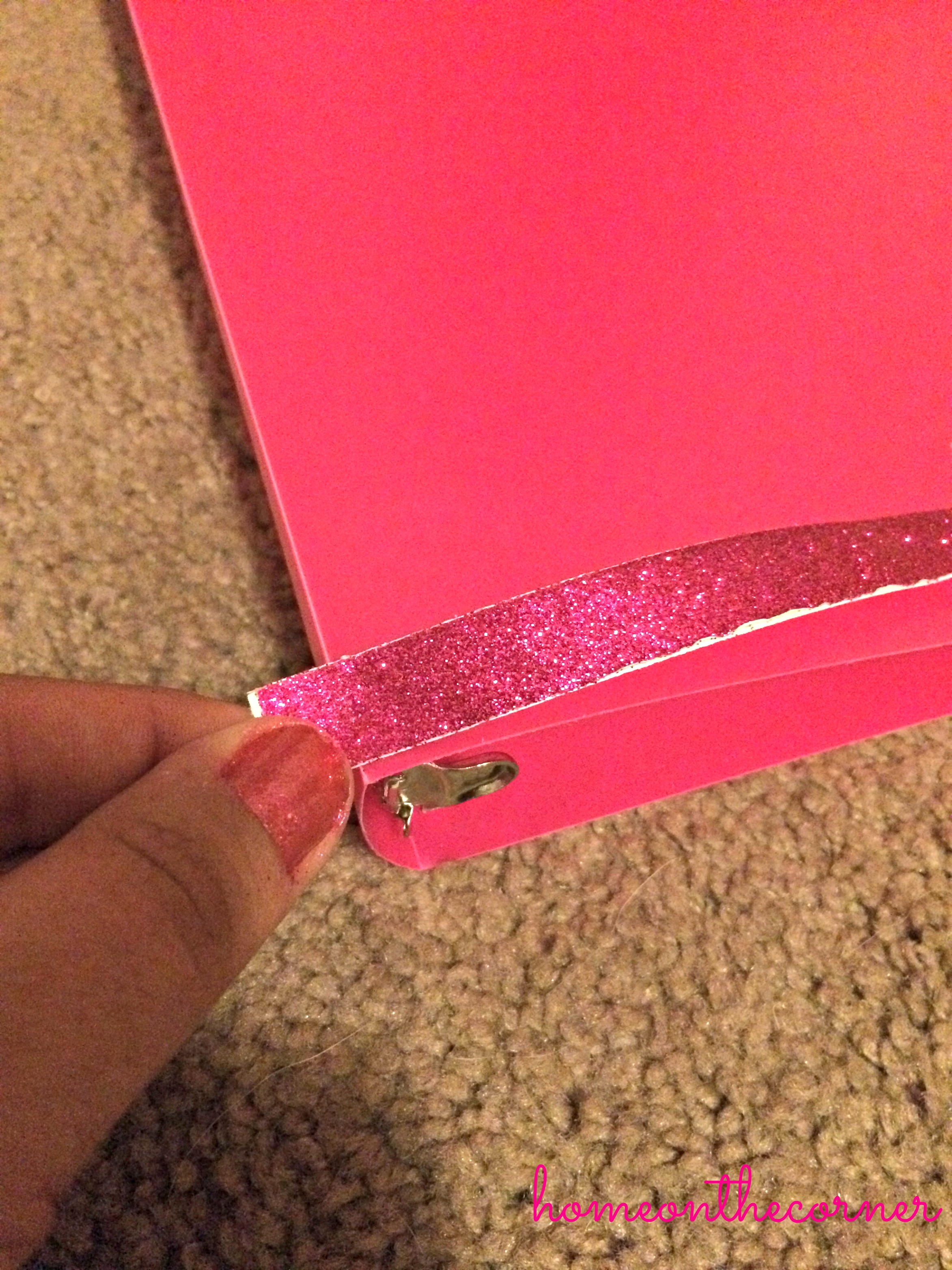 Binder with Tape Before