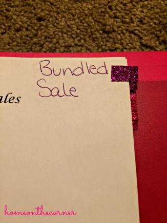 Bundled Sale