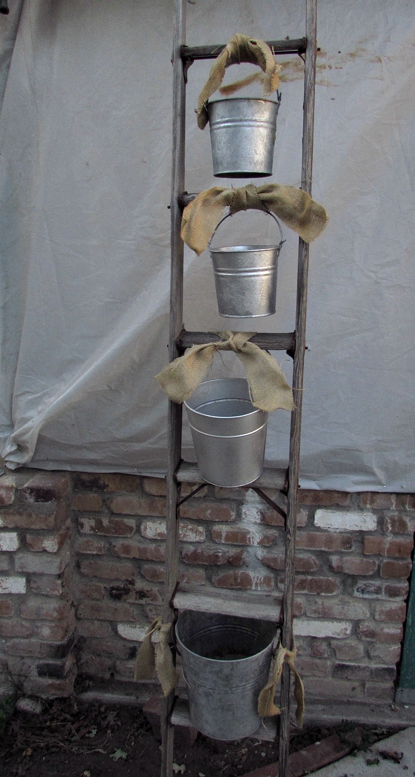 Corner News- Plant Ladder and Buckets-April 16, 2016