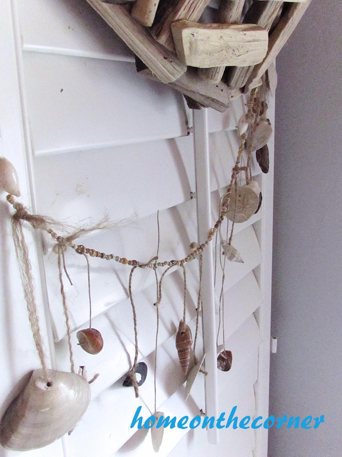 dining room refresh seashell garland