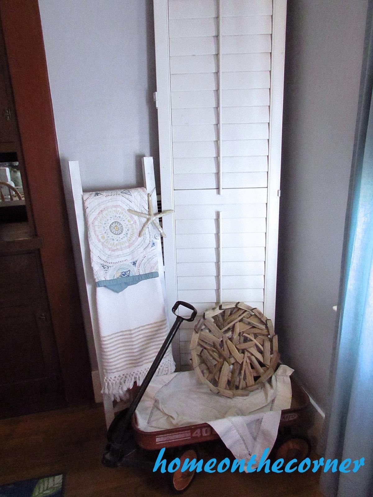 dining room refresh shutter ladder wagon