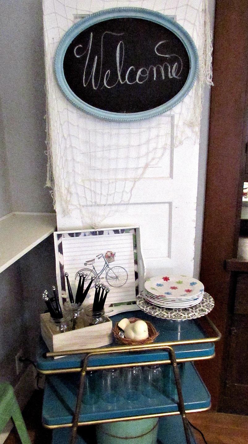 dining room refresh welcome door