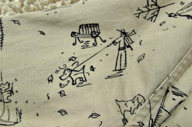 finds and fashions tan dog jacket closeup