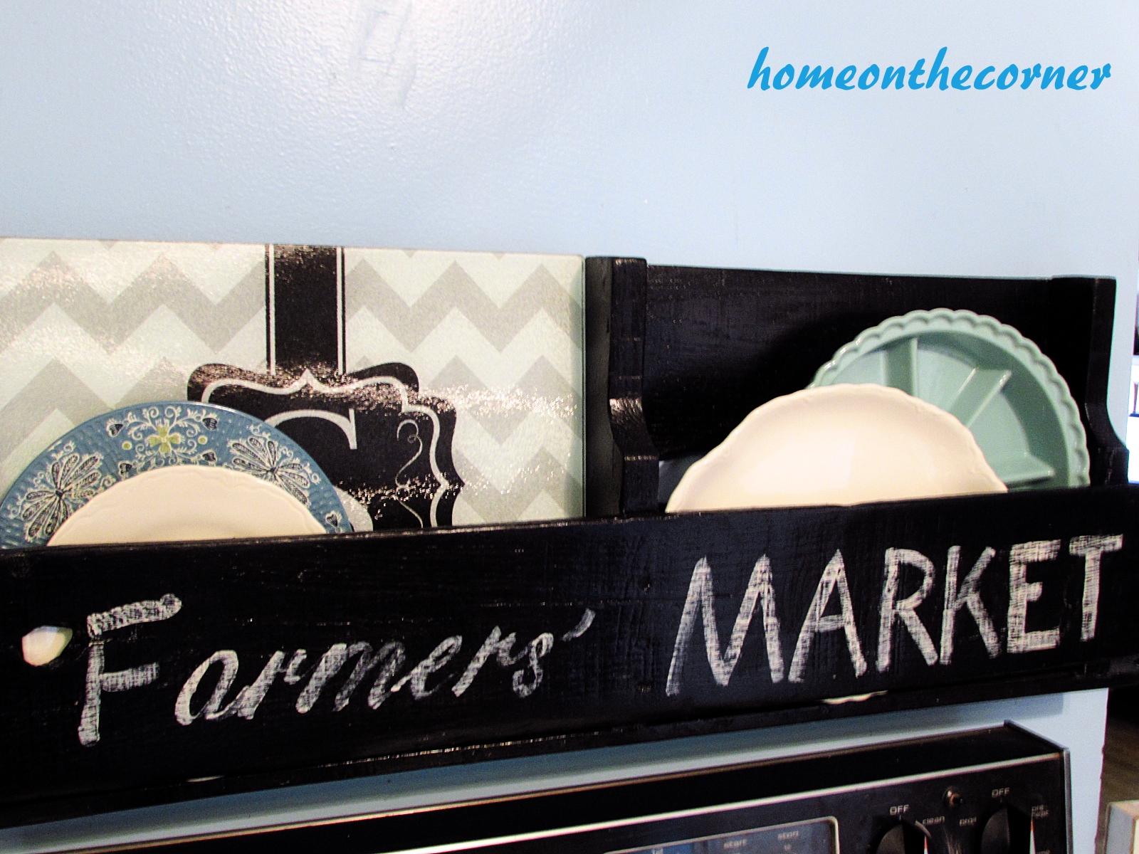 pallet farmers market kitchen plate holder