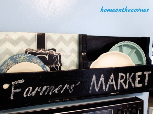 pallet farmers market kitchen plate holder