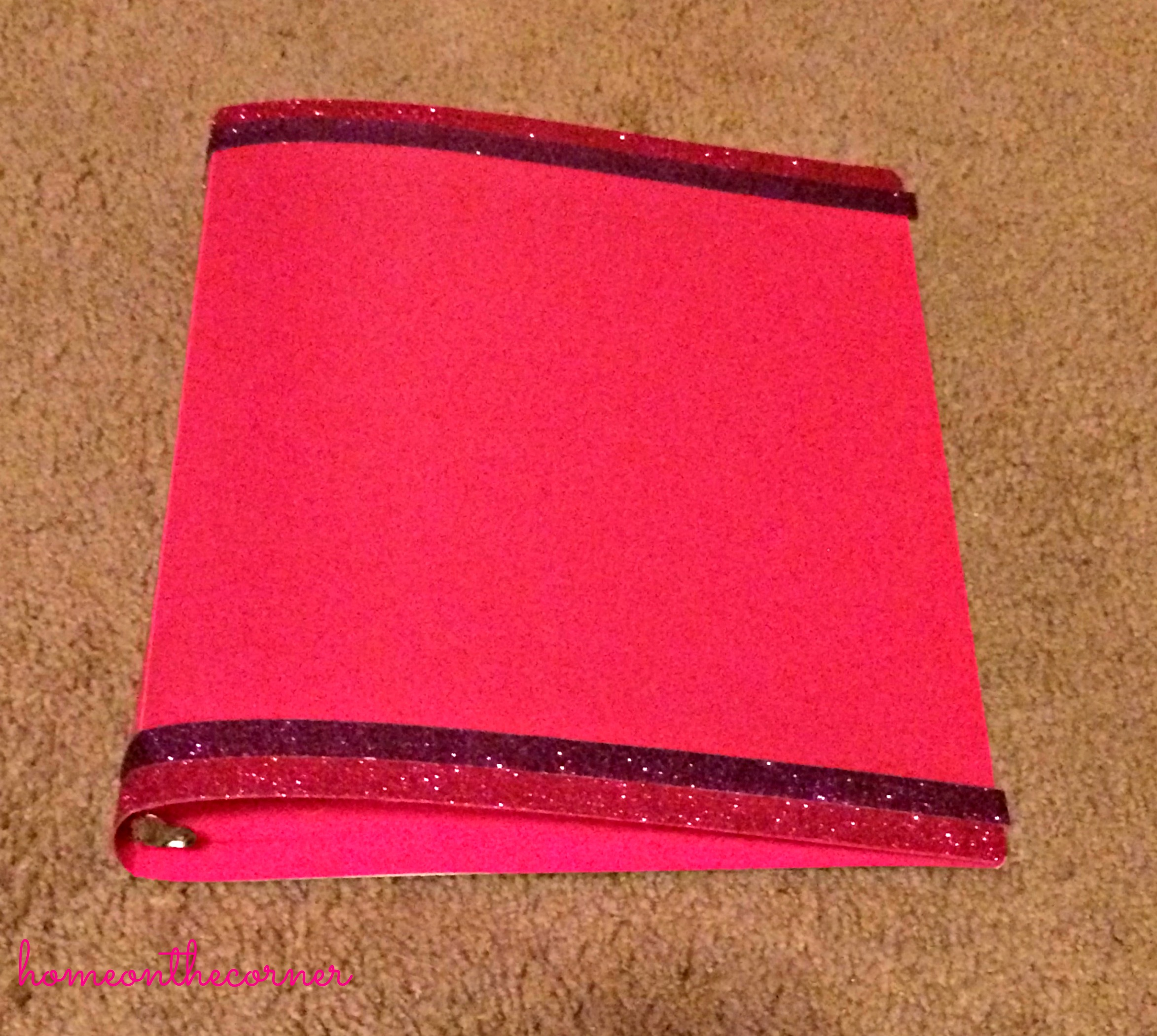 Pink Binder with Tape