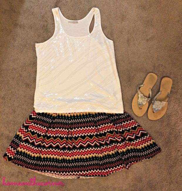 Chevron Skirt 1