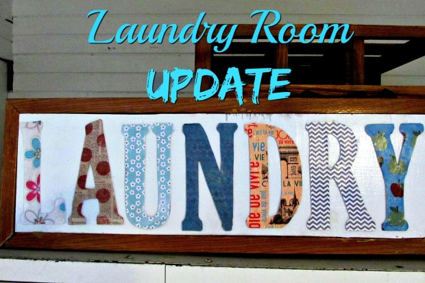Laundry room letter sign title