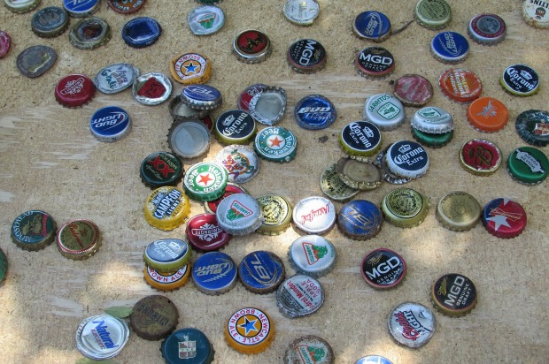 picket fence flag bottle cap stars