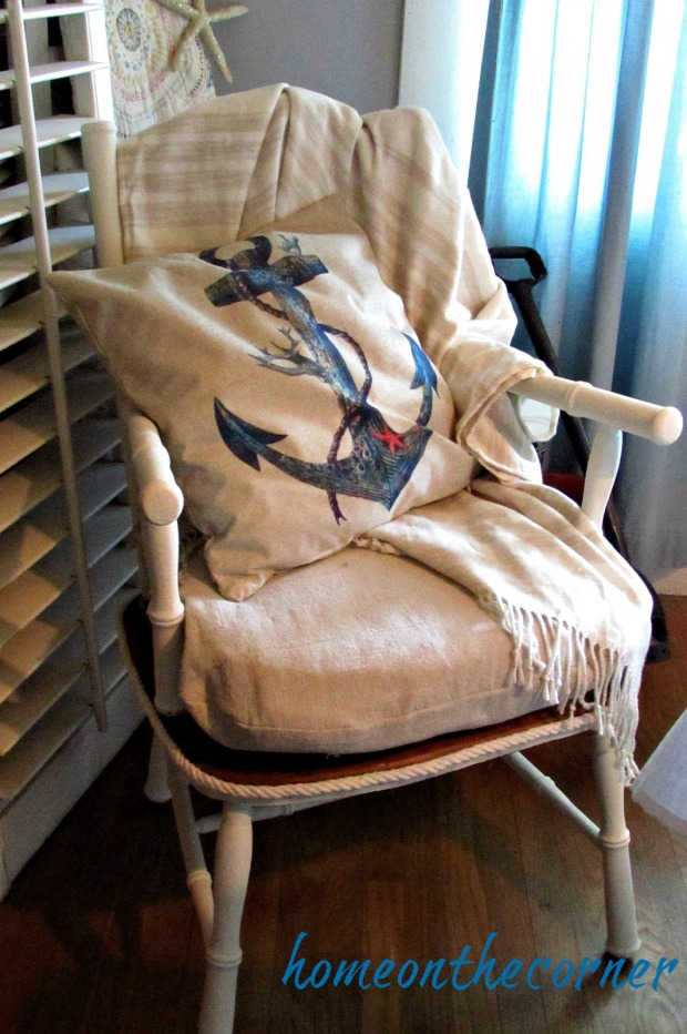 grandpas chair anchor pillow