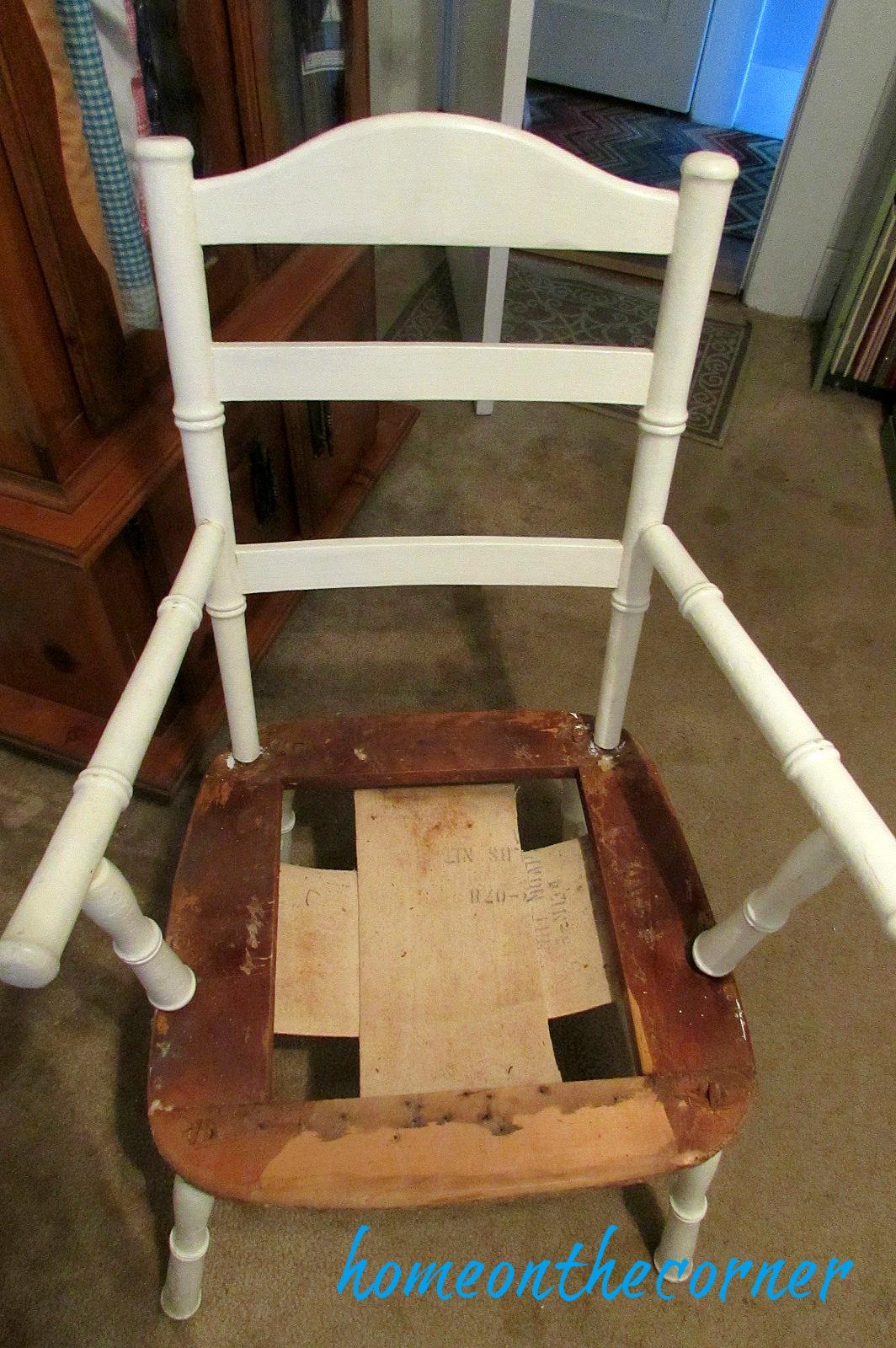 grandpas chair taken apart
