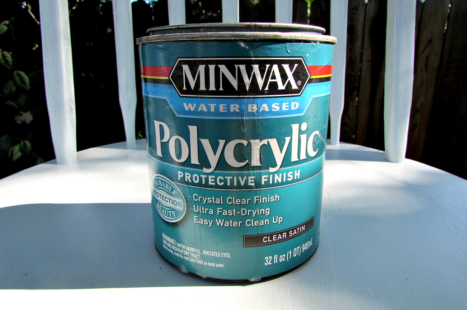 kitchen chair makeover minwax polycrylic finish