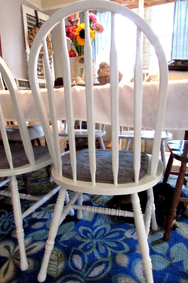 kitchen chair makeover white farmhouse