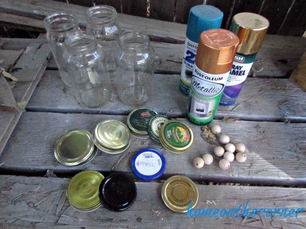 Christmas Jars Supplies