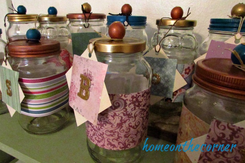 christmas jars with initials