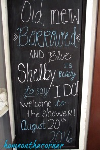 bridal shower chalkboard