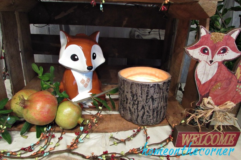 bridal shower woodland  foxes