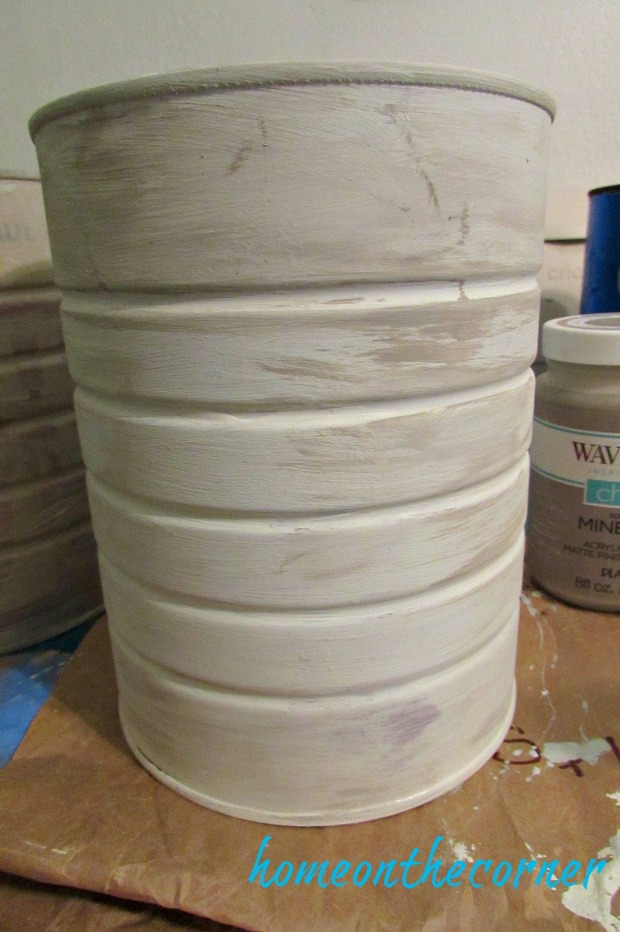 coffee can makeover chalk paint grey