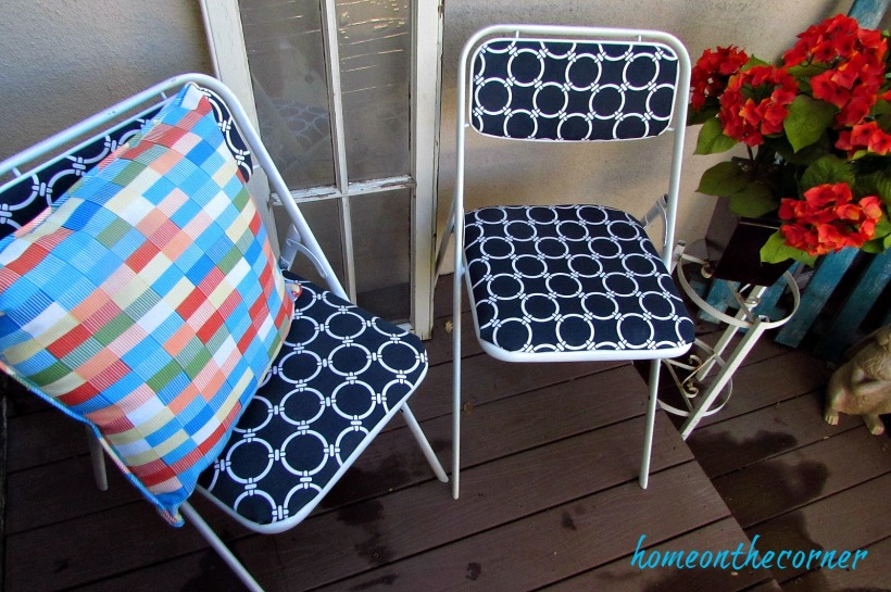 folding chair makeover 2 chairs