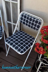 folding chair makeover blue and white completed chair