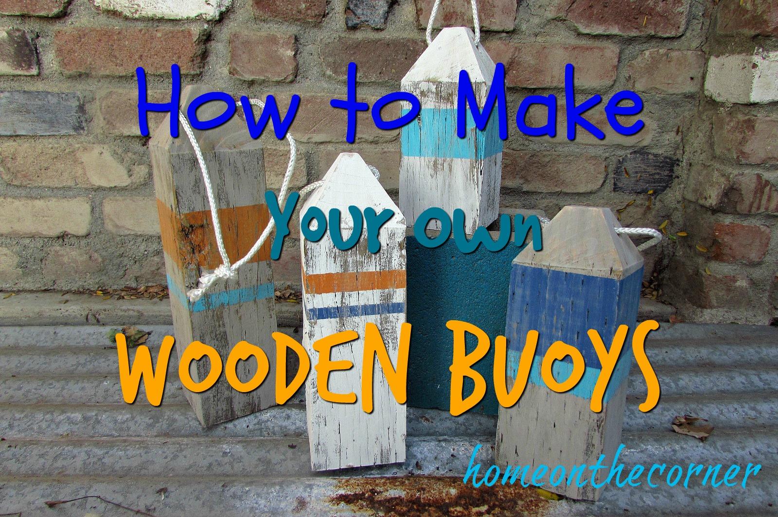 ocean wooden buoys title