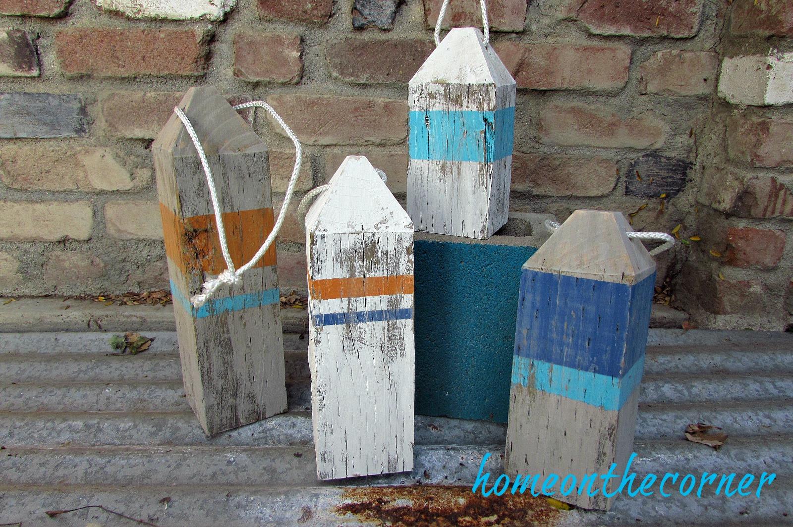 ocean wooden buoys