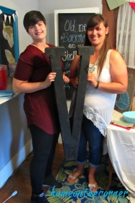 woodland bridal shower bride and maid of honor