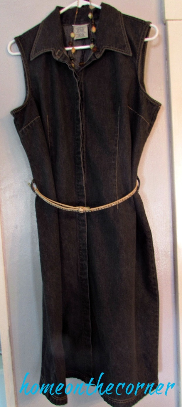 black-denim-dress