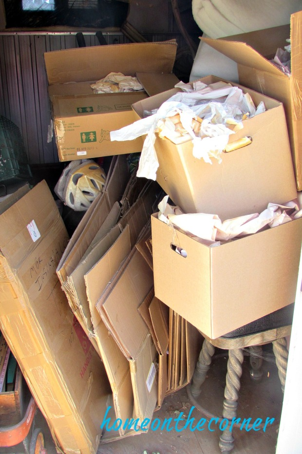 shed full of boxes